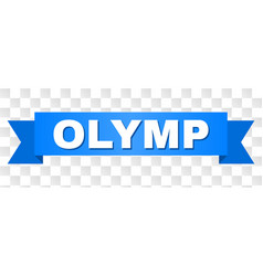 Blue tape with olymp caption vector