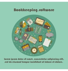 Bookkeeping card templat vector