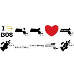 Boston massachusetts vector