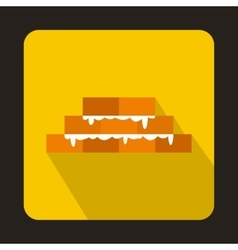 Brick wall icon in flat style vector