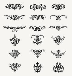 Calligraphic Decorative Design Elements Vintage Ve vector