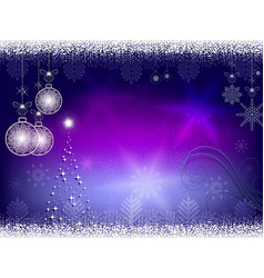Christmas blue purple background vector