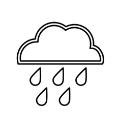 cloud and rain design isolated weather icon vector image