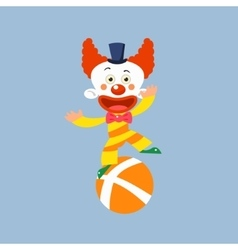 Clown Balancing On One Leg vector image
