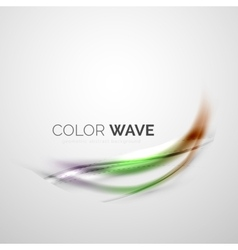 Color wave element vector image