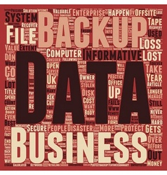 Consequences of data loss and Why should Offsite vector image