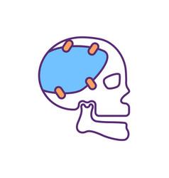 Craniofacial prosthetic rgb color icon vector