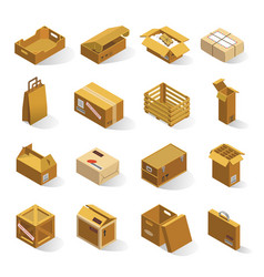 delivery boxes isometric vector image