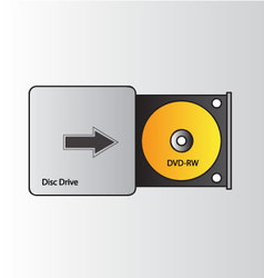 disc drive dvd-rw vector image