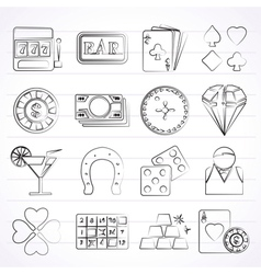Gambling and Casino icons vector image