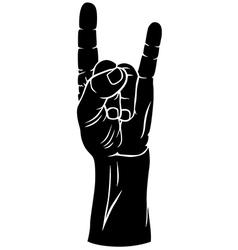 gesture goat vector image