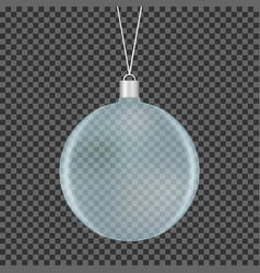 glass transparent christmas ball vector image