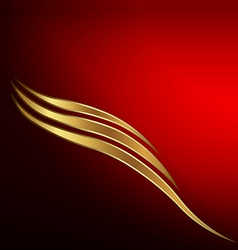 Gold waves card vector