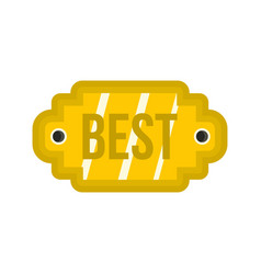 Golden label with the best inscription icon vector