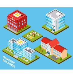 Government Buildings Set vector