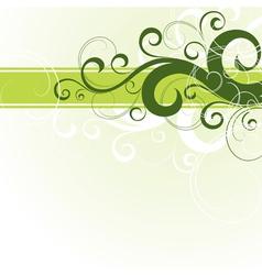 Green floral design vector