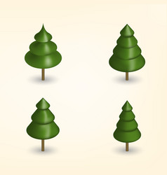 Green trees in 3d vector