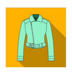 Green youth short leather jackets for confident vector