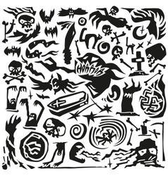 Halloween monsters - doodles vector