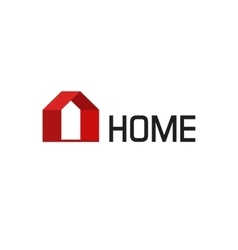 home logo isolated geometric house vector image