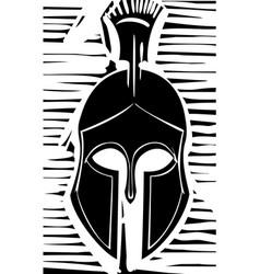 Hoplite greek helmet vector