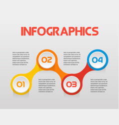 horizontal text steps infographics - can vector image