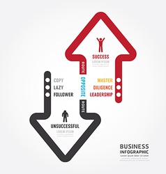 Infographic business route to success concept vector