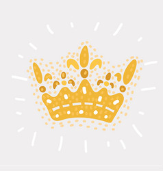 king crown hand drawn vector image