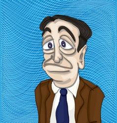 Man sketch vector image