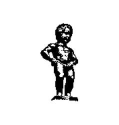 manneken pis statue in brussels belgium vector image
