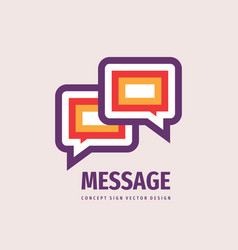 message speech bubbles communication logo design vector image