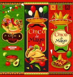 mexican cinco de mayo fiesta banners vector image