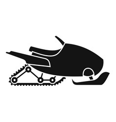 mountain snowmobile icon simple style vector image