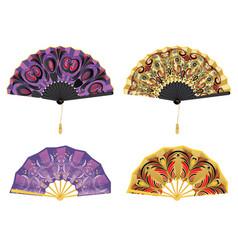 Oriental style fan vector