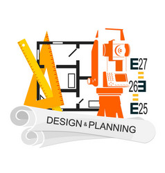 Planing and design of housing symbol vector