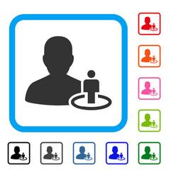 Portal moderator framed icon vector