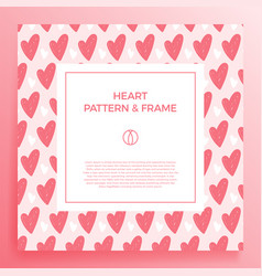 Poster banner or card frame border with love hand vector