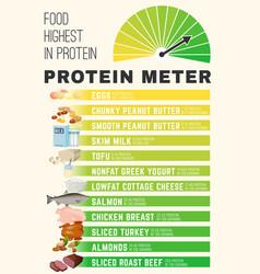 Protein meter image vector