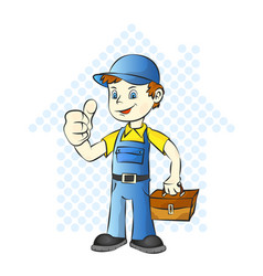 repairman for home vector image