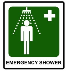 Safe condition sign Emergency shower vector