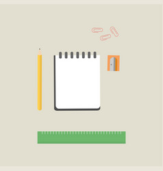 school supplies equipment and back to school icons vector image