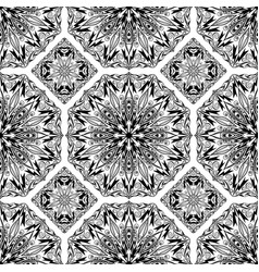 Seamless pattern from black abstract mandalas vector