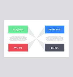 set blue and green red black elements vector image