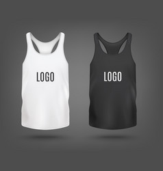 set tank top or sleeveless shirt mockup 3d vector image