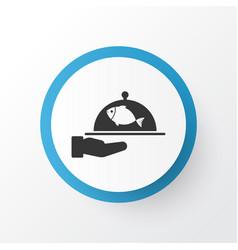 spacing icon symbol premium quality isolated fish vector image