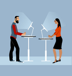 Standing table couple vector