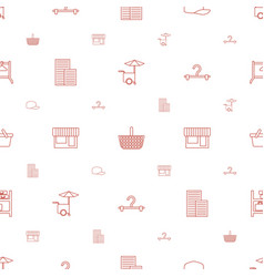 store icons pattern seamless white background vector image
