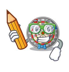 Student dartboard in shape mascot vector