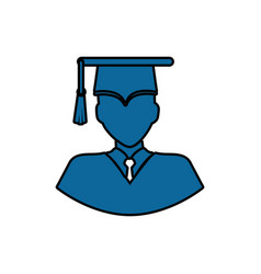 Student graduation profile vector