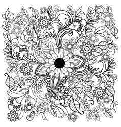 summer doodle flower ornament vector image